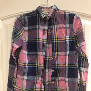 Old Navy plaid shirt. Size small tall